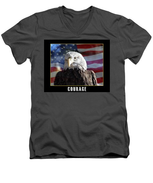 The American Bald Eagle Men's V-Neck T-Shirt