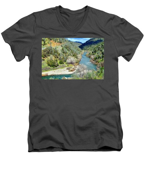 The American River Men's V-Neck T-Shirt