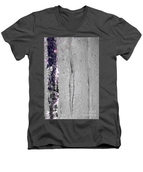 The Wall Of Amethyst Ice  Men's V-Neck T-Shirt by Jennifer Lake