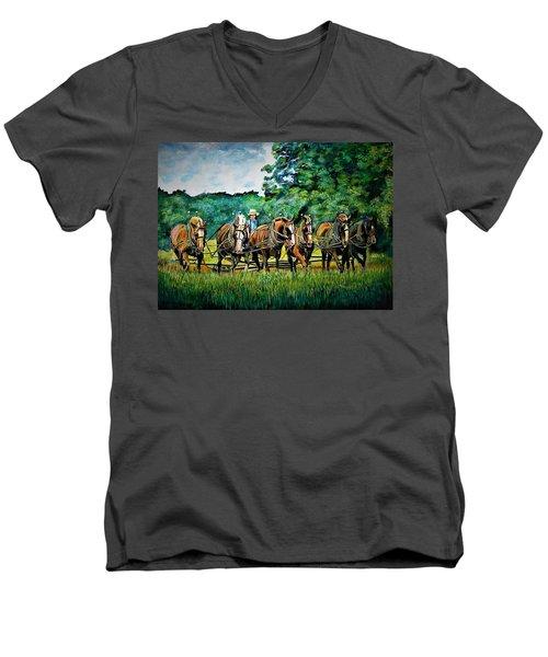 The Amish Team Men's V-Neck T-Shirt