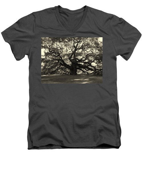 The Angel Oak Men's V-Neck T-Shirt