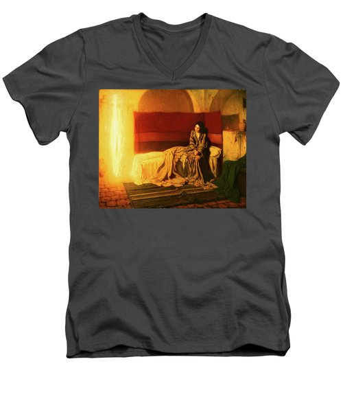 The Annunciation Men's V-Neck T-Shirt