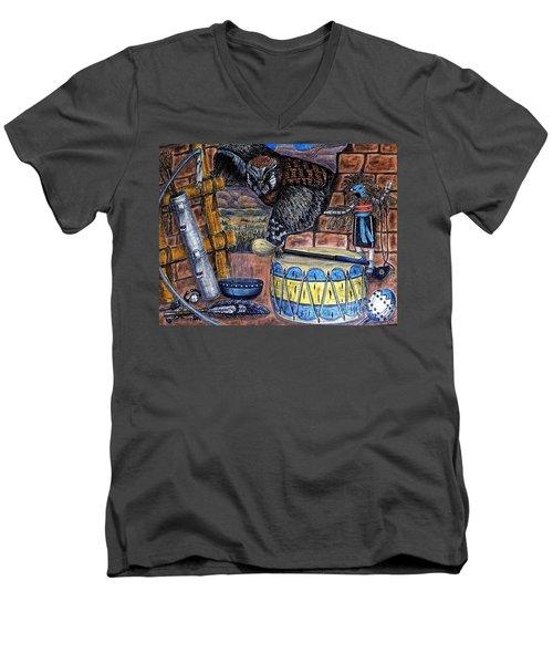 The Answer Comes Men's V-Neck T-Shirt