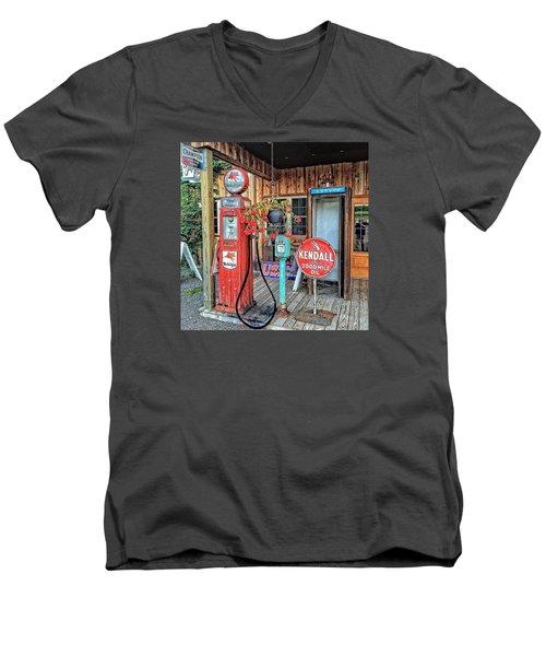 The Apple Station Men's V-Neck T-Shirt