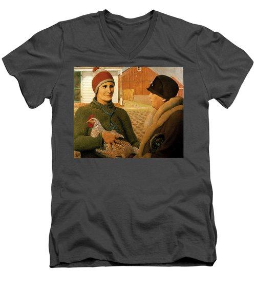 The Appraisal Men's V-Neck T-Shirt by Celestial Images