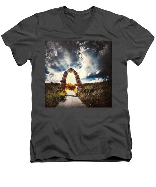 The Arch On The Edge Of Forever Men's V-Neck T-Shirt