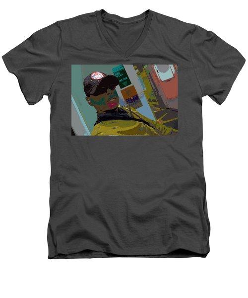the artist - MARINE CORPORAL kenneth james Men's V-Neck T-Shirt