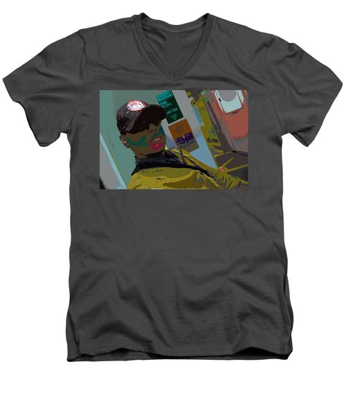the artist - MARINE CORPORAL kenneth james Men's V-Neck T-Shirt