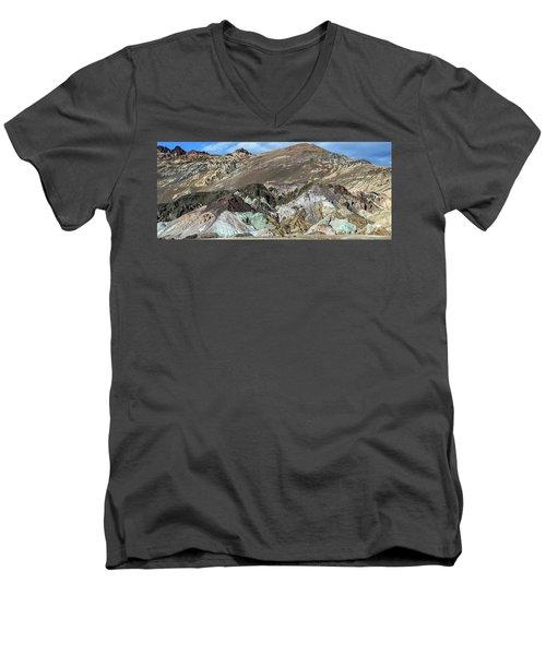 The Artists Palette Death Valley National Park Men's V-Neck T-Shirt