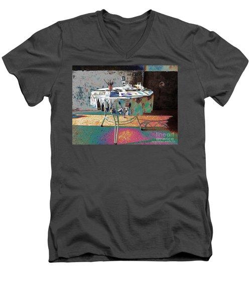 The Artists Table Men's V-Neck T-Shirt by Don Pedro De Gracia