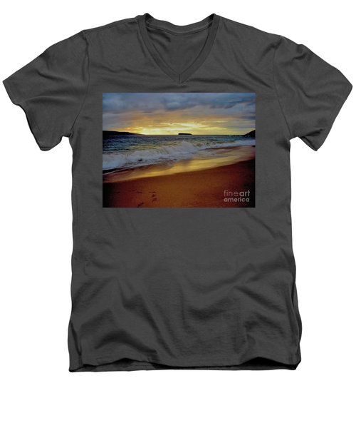 The Aura Of Molokini Men's V-Neck T-Shirt by Victor K