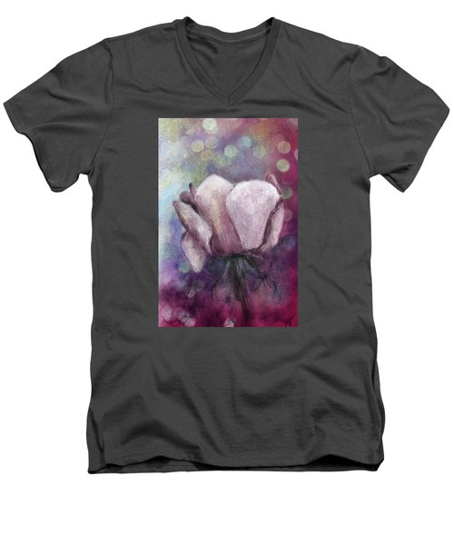 Men's V-Neck T-Shirt featuring the painting The Award by Annette Berglund