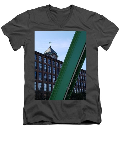 The Ayer Mill And Clock Tower Men's V-Neck T-Shirt
