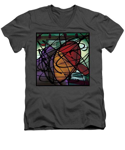 The B-boy As Dj Men's V-Neck T-Shirt