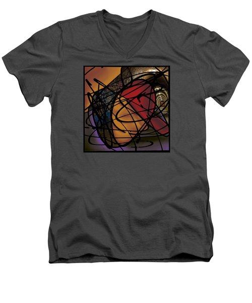 The B-boy As Writer Men's V-Neck T-Shirt by Ismael Cavazos