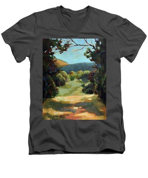 The Backroads - Original Oil On Canvas Summer Landscape  Men's V-Neck T-Shirt