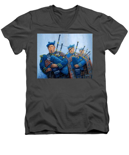 The Bagpipers Men's V-Neck T-Shirt