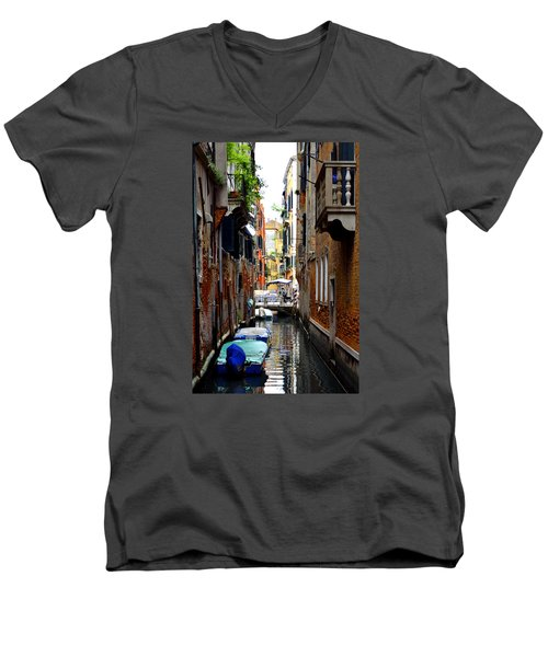The Balcony Men's V-Neck T-Shirt by Richard Ortolano