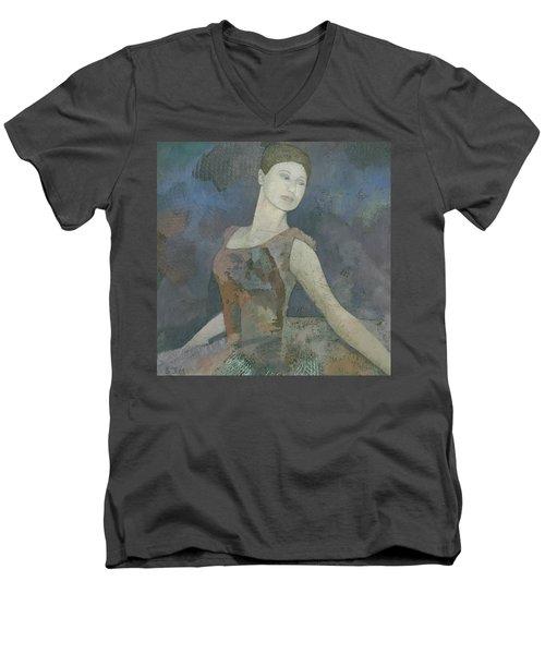 The Ballerina Men's V-Neck T-Shirt