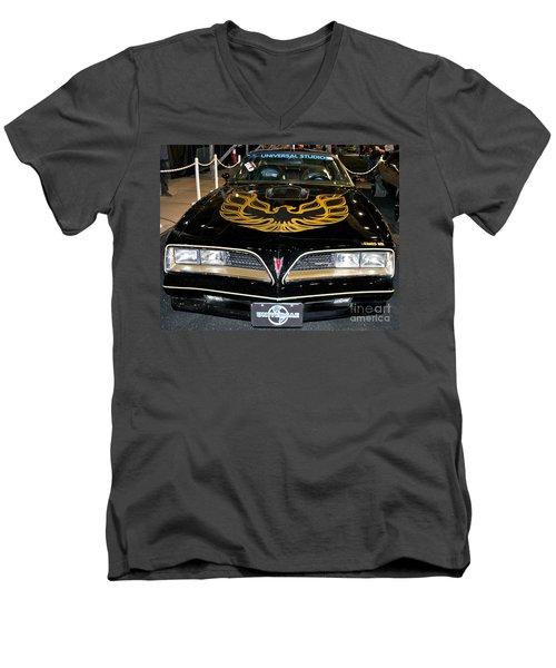 The Bandit Men's V-Neck T-Shirt by Pamela Walrath