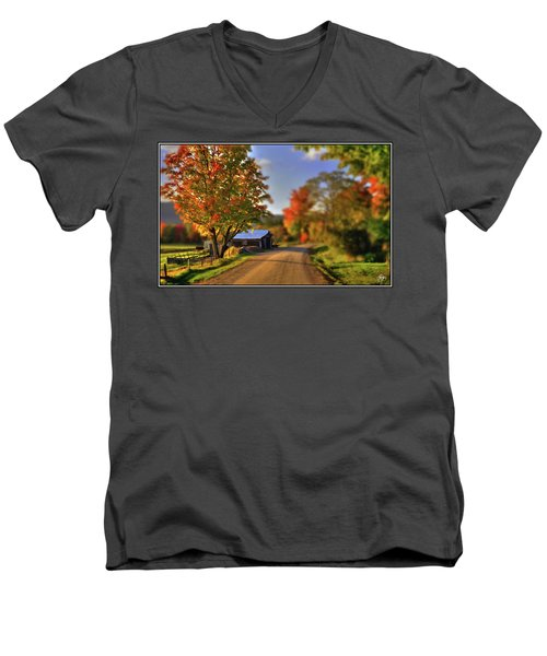 The Barn At The Bend Men's V-Neck T-Shirt