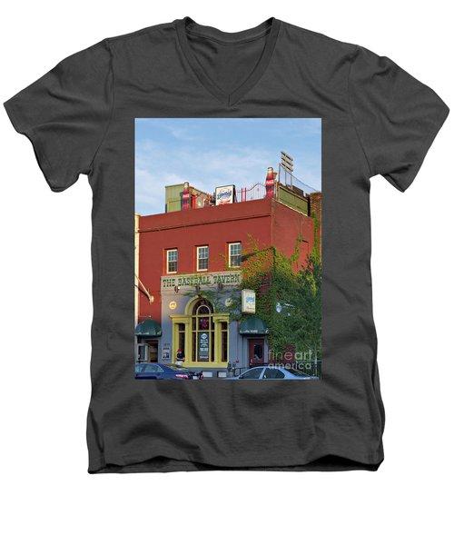 The Baseball Tavern Boston Massachusetts  -30948 Men's V-Neck T-Shirt