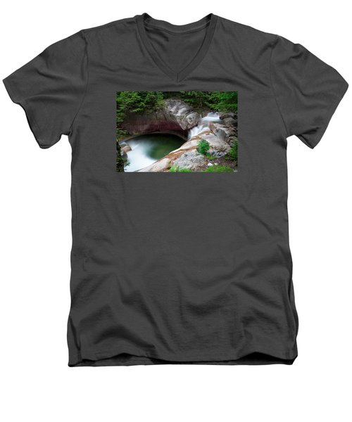 The Basin From Above Men's V-Neck T-Shirt by Michael Hubley