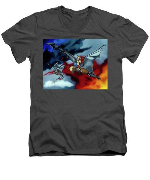 The Bat Riders Men's V-Neck T-Shirt