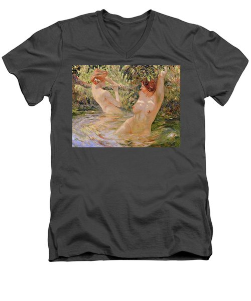 The Bathers Men's V-Neck T-Shirt