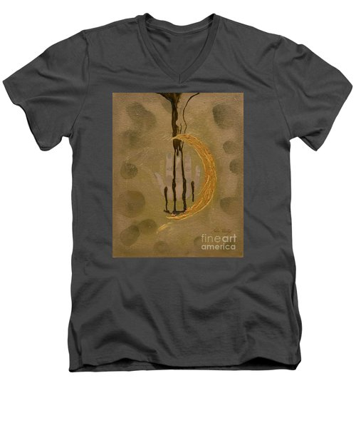 The Battle Of Religons And Wars 4 Liquid Gold Men's V-Neck T-Shirt by Talisa Hartley