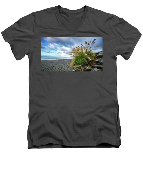 The Beach At Brookings Men's V-Neck T-Shirt
