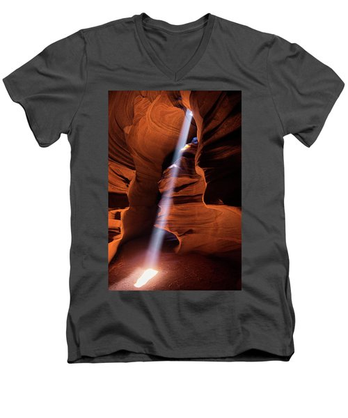 The Beam Of Light Men's V-Neck T-Shirt