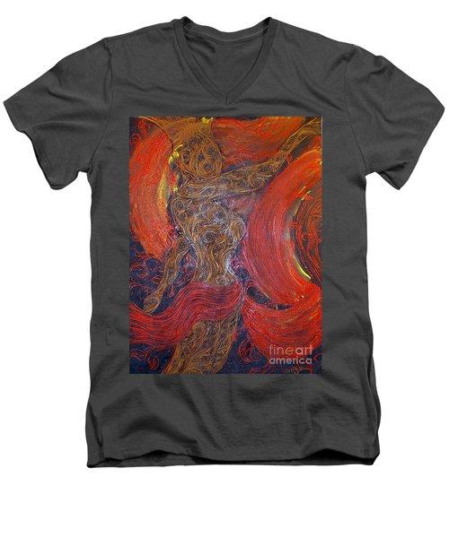 The Belly Dancer Men's V-Neck T-Shirt