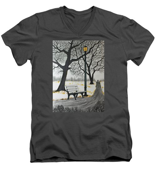 The Bench Men's V-Neck T-Shirt by Jack G  Brauer