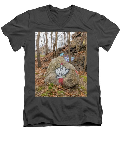 The Bird Men's V-Neck T-Shirt by Brian MacLean