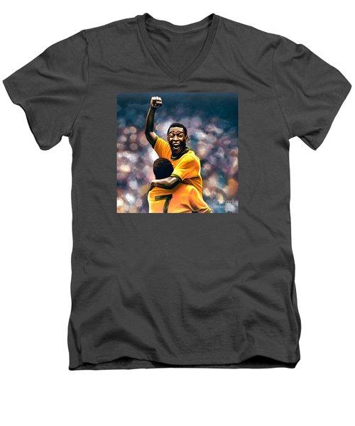 The Black Pearl Pele  Men's V-Neck T-Shirt