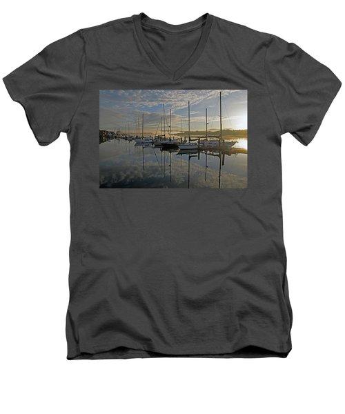 The Blue And Beyond Men's V-Neck T-Shirt by Suzy Piatt