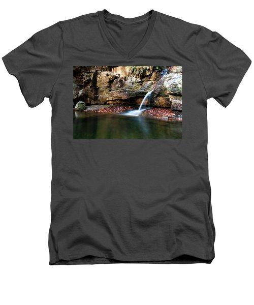 The Blue Hole In November #1 Men's V-Neck T-Shirt