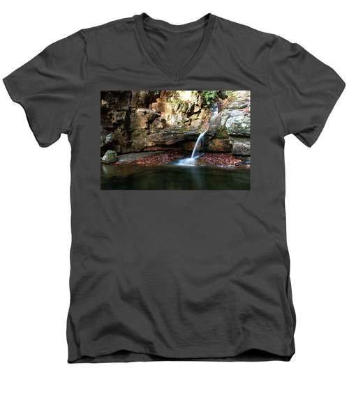 The Blue Hole In November #2 Men's V-Neck T-Shirt by Jeff Severson