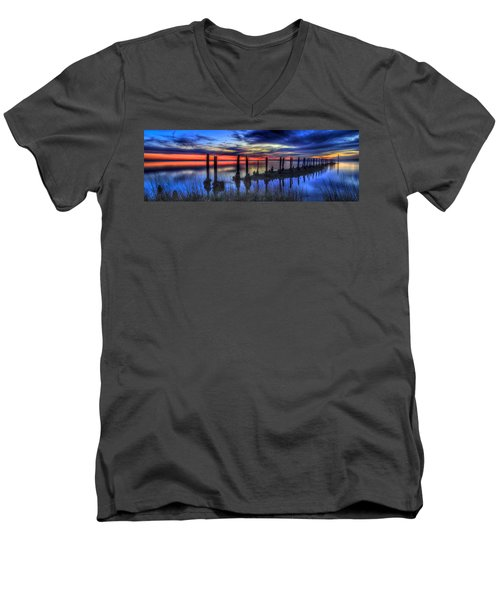 The Blue Hour Comes To St. Marks #2 Men's V-Neck T-Shirt