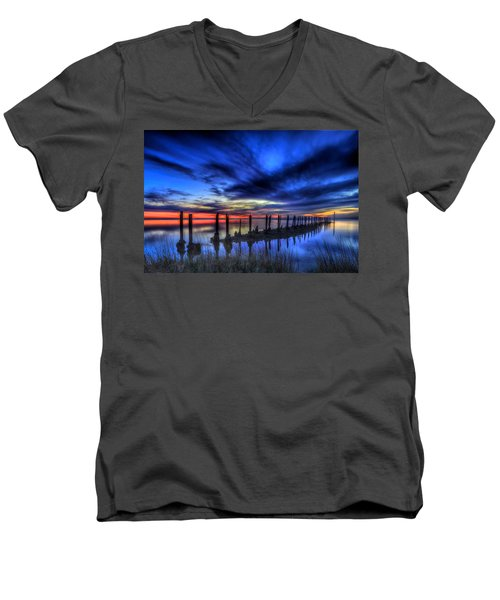 The Blue Hour Comes To St. Marks #1 Men's V-Neck T-Shirt