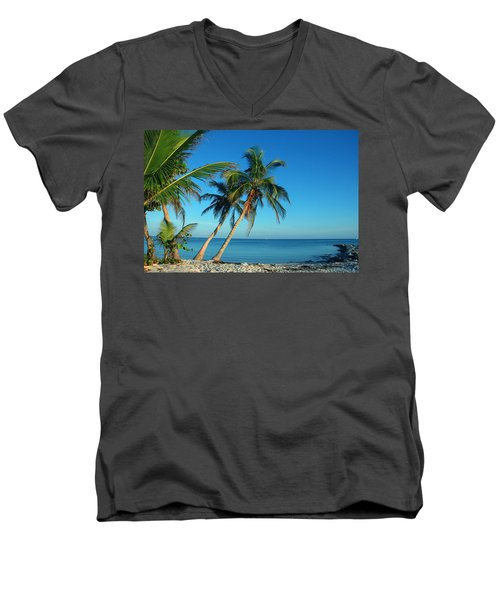 The Blue Lagoon Men's V-Neck T-Shirt
