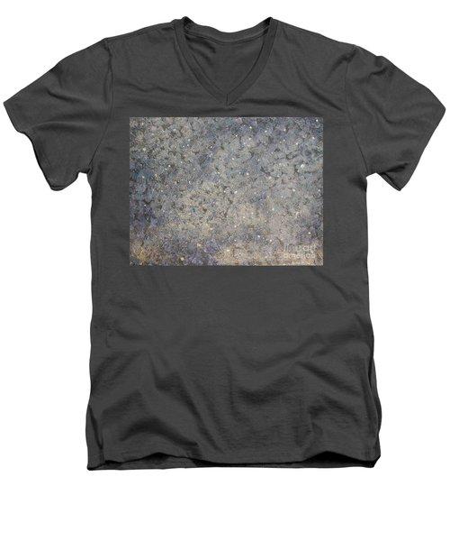 The Blue Men's V-Neck T-Shirt by Rachel Hannah
