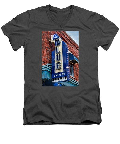 The Blue Room Sign Men's V-Neck T-Shirt by Steven Bateson