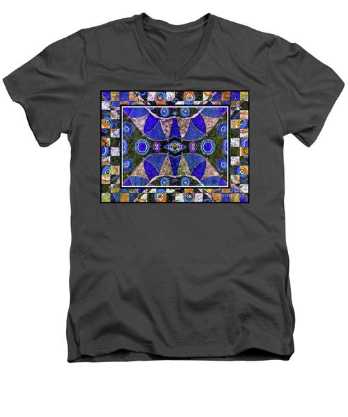 The Blue Vibrations Men's V-Neck T-Shirt