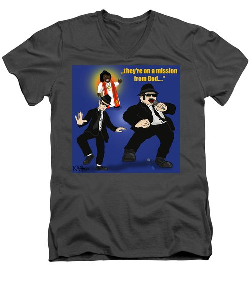 The Blues Brothers Men's V-Neck T-Shirt