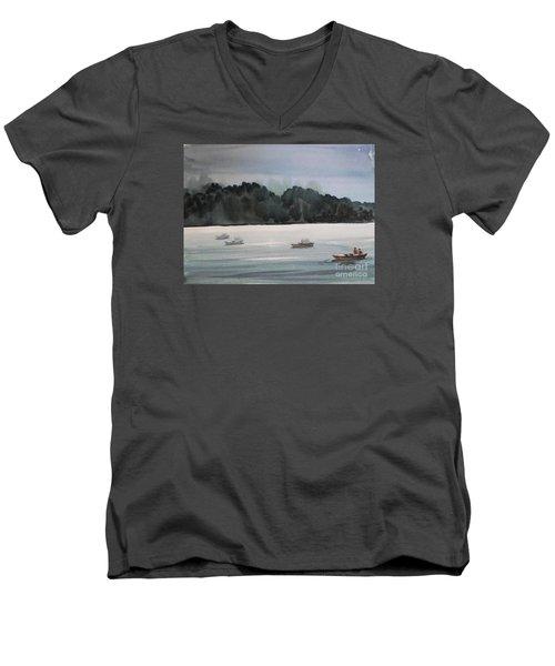 The Boat Ride Men's V-Neck T-Shirt