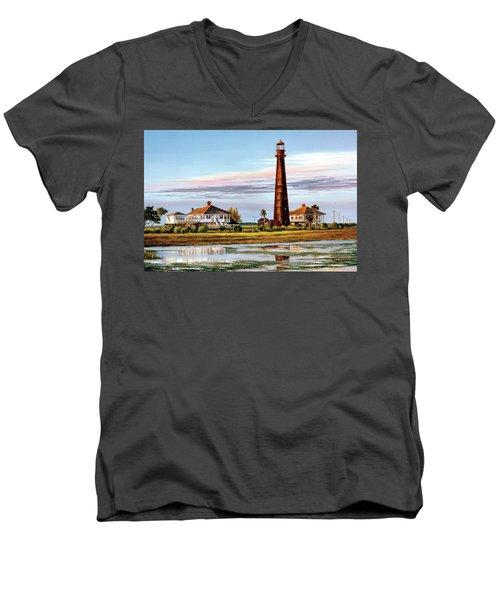 The Bolivar Lighthouse Men's V-Neck T-Shirt
