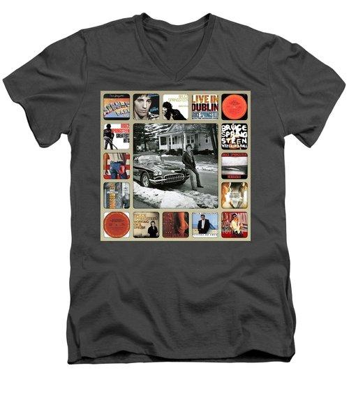 The Boss Mr Bruce Springsteen Men's V-Neck T-Shirt