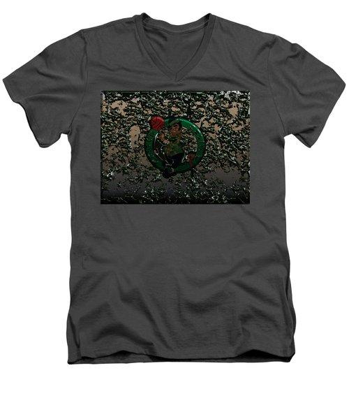 The Boston Celtics 1c Men's V-Neck T-Shirt by Brian Reaves